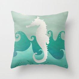 Sea Stallion #Seahorse #Ocean Throw Pillow