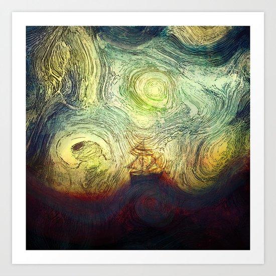 Starry sailing Art Print