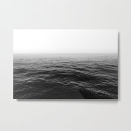 ocean horizon black and white landscape photography Metal Print