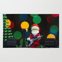concert Area & Throw Rugs featuring Santa's Concert by Pedro Nogueira