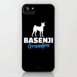 Basenji Grandpa iPhone Case