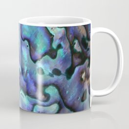 Deep Purple Abalone Shell Coffee Mug