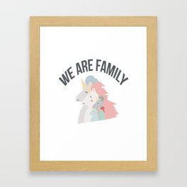 We are family Framed Art Print