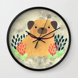 Pug the Pug Wall Clock
