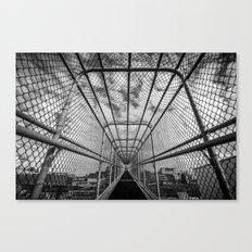 Chain-Link Walkway Canvas Print