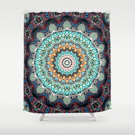 Colorful Kaleidoscope Rings Shower Curtain