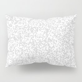 Tiny Spots - White and Light Gray Pillow Sham