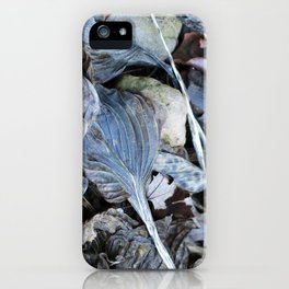 The Nature of Leaves - a Midwest Winter iPhone Case