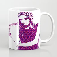 cara delevingne Mugs featuring Cara Delevingne by fashionistheonlycure