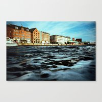 copenhagen Canvas Prints featuring Copenhagen by Marcin Kubiak