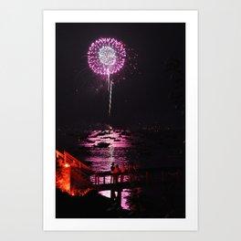 Marblehead Fireworks Art Print