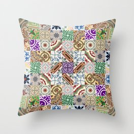 Cement tiling Throw Pillow