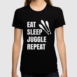Juggling Humor - Eat Sleep JUGGLE Repeat T-shirt