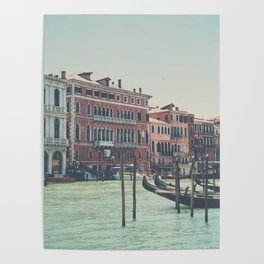 looking along the Grand Canal ... Poster