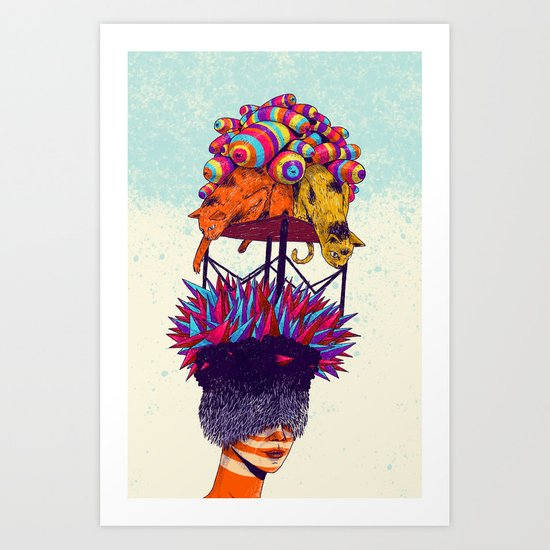 Full head Art Print