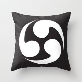 Japanese curve Throw Pillow
