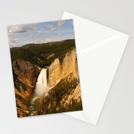 Majestic Yellowstone Upper Falls Stationery Cards