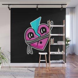 Cracked Heart Mend Heart Love Retro Cartoon Wall Mural