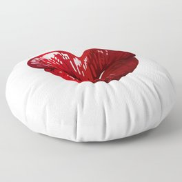 Heart Shaped Lips Floor Pillow