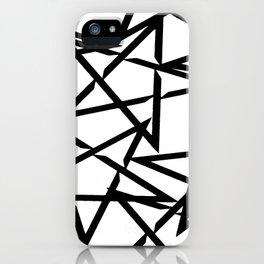 Interlocking Black Star Polygon Shape Design iPhone Case