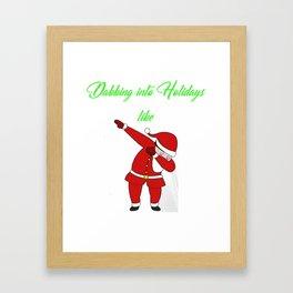 Dabbing into Holidays like Santa Christmas Framed Art Print
