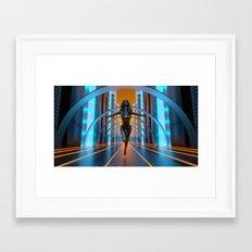 Neon Dream Framed Art Print