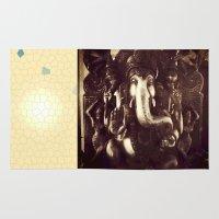 ganesha Area & Throw Rugs featuring Ganesha  by Art by Faern