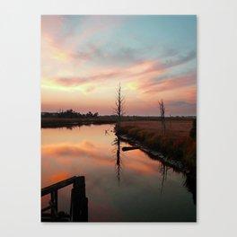 Sunset on Smith Creek Wilmington, NC Canvas Print