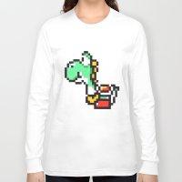 yoshi Long Sleeve T-shirts featuring yoshi by Walter Melon