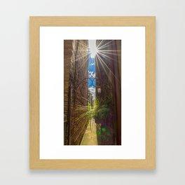 Peek Down the Alley Framed Art Print