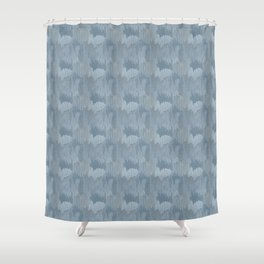 Industrial Abstract Texture in Slate Blue Shower Curtain