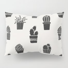 Southwestern Stamped Potted Cactus + Succulents Pillow Sham