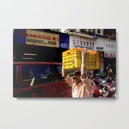 Mumbai Crowds - Dadar Station and Market - 2 Metal Print