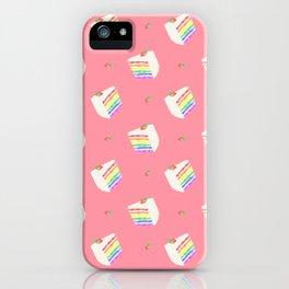 Watercolor Rainbow Cake iPhone Case