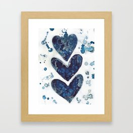Three hearts are better than two. Framed Art Print