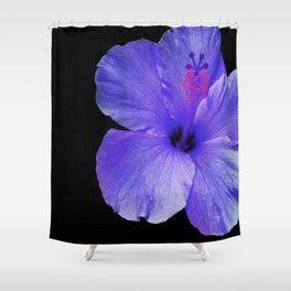 A Single Hibiscus Inversion Shower Curtain