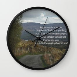 May The Road Rise to Meet You Wall Clock
