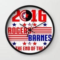 bucky barnes Wall Clocks featuring 2016 BARNES RODGERS by BethTheKilljoy