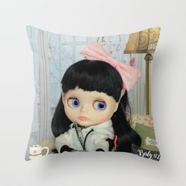 Winter, cold and windy day Throw Pillow