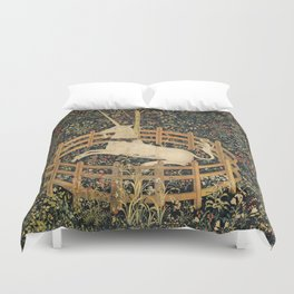The Unicorn In Captivity Duvet Cover