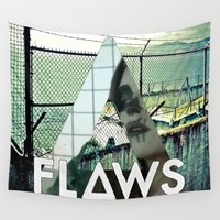 bastille Wall Tapestries featuring Bastille - Flaws by Thafrayer