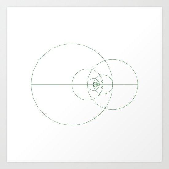 #373 Fibonacci orbits – Geometry Daily Art Print