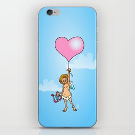 Cupid with harp on Valentine's Day iPhone Skin