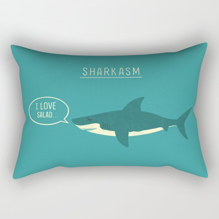 Sharkasm Rectangular Pillow