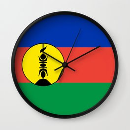 New Caledonia flag Wall Clock