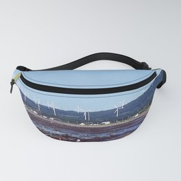 Beach and Wind Turbines Fanny Pack