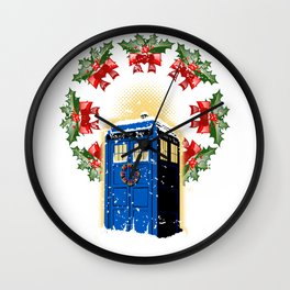 A WARM AND CONFORTABLE TARDIS I N THE SNOWSTORM Wall Clock