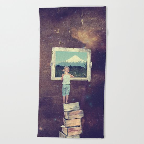 Dreaming of Faraway Places Beach Towel