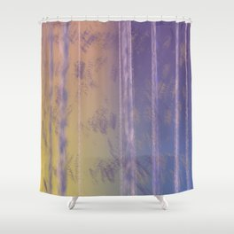 Abstract Yellow and Purple Shower Curtain