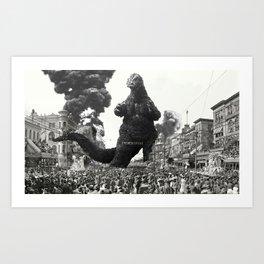 New Orleans Godzilla Attack 1908 Art Print
